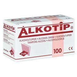 Alkotip Alcoholdoekjes 45x87 mm 100 Stuks