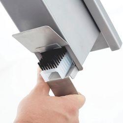 handborstel dispenser, roestvrij staal 140 x 530 x 90 mm