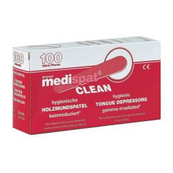 Medispat Clean Houten Tongspatels 100 St St