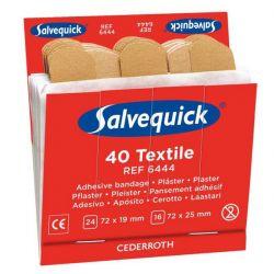 Salvequick Refill 6444 6 x 40 St Textil